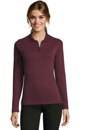 Womens Long-Sleeve Piqué Polo Shirt Perfect