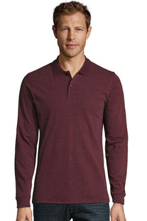 Mens Long-Sleeve Piqué Polo Shirt Perfect