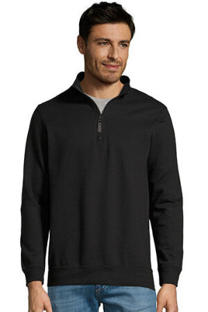 Mens Zip High Collar Sweatshirt Stan