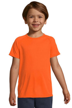 Kids Raglan Sleeved T-Shirt Sporty