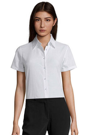 Damen Oxford-Kurzarmbluse Elite