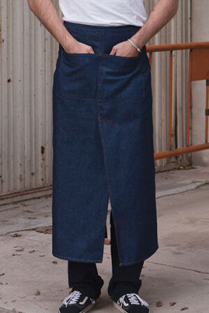 Jeans Bistro Apron with Split